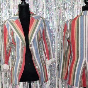 Jackets & Blazers - F.A Chatta L.T.D. Multi Color Cotton Blazer (S-M)